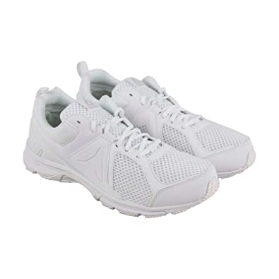 the latest 8e4e0 75428 Reebok Runner 2.0 Mens White Mesh Athletic Lace Up Running Shoes 7