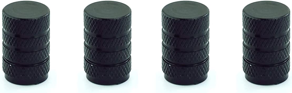 Abfer Car Tire Air Valve Stem Caps Aluminum Universal Pressure Dust Covers Decorative Accessories Fit SUV Vehicle Truck Motorcycles Bikes Black