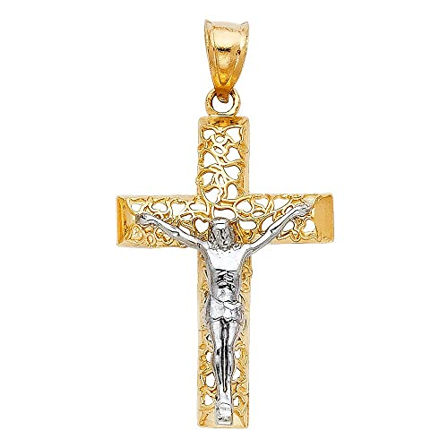 Jewels By Lux 14K Yellow Gold Cross Pendant