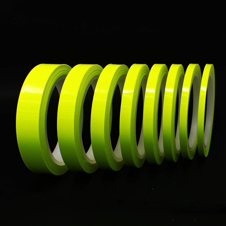 0,95/€//m Amarillo ne/ón, 10mm 10 metros tiras decorativas para coche moto barco modelismo rayas para la artesan/ía manualidades