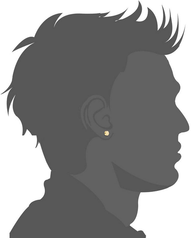 Cupimatch 3 Pairs Punk Hip-hop Stainless Steel Men Faux Gauge Illusion Tunnel Ear Plug Stud Earrings