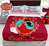 NEW PRETTY WINTER COLLECTION PRINCESS ELENA OF AVALOR DISNEY ORIGINAL BLANKET WITH SHERPA VERY SOFTY THICK AND WARM AND SHEET SET 5 PCS QUEEN SIZE