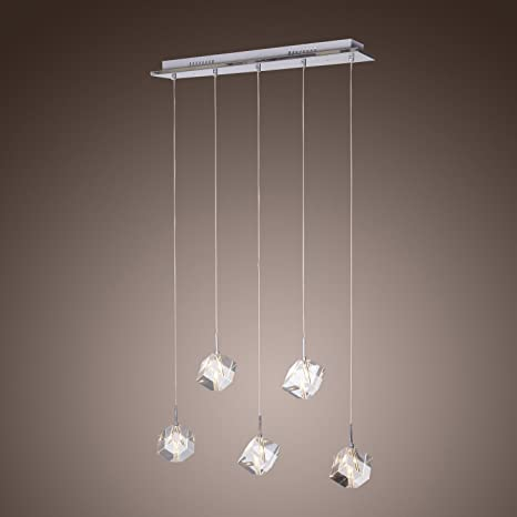 LightInTheBox K Crystal Bar Pendant Light With Lights Island - 5 pendant light fixture