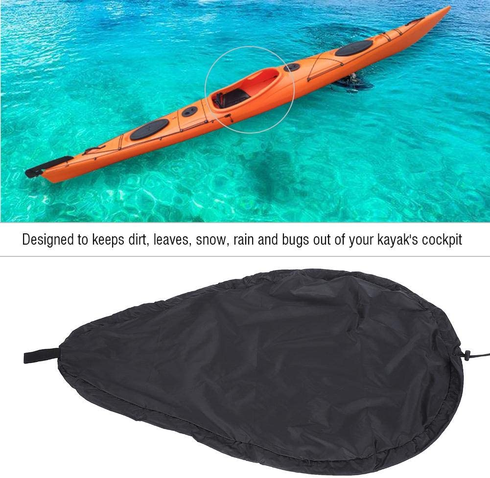 Universal Fit Blocking Kayak Canoe/Cockpit Cover Protector Black 5 Sizes Optional for Indoor and Outdoor Yosoo Health Gear Breathable Adjustable UV50