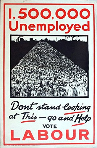 1930/'s Labour Party Election Poster A3 Print
