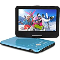 10 inch Portable DVD Player Car for Kids & Car with Built-in Rechargeable Battery, 270 Degree Swivel Screen, Headphones, SD Card Slot and USB Port by Express Panda