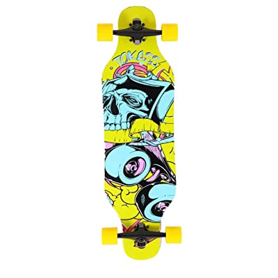Aniseed Skateboards Longboards Drop Through Downhill/Cruiser Freeride Complete Longboard 42 Inch Yellow : Sports & Outdoors
