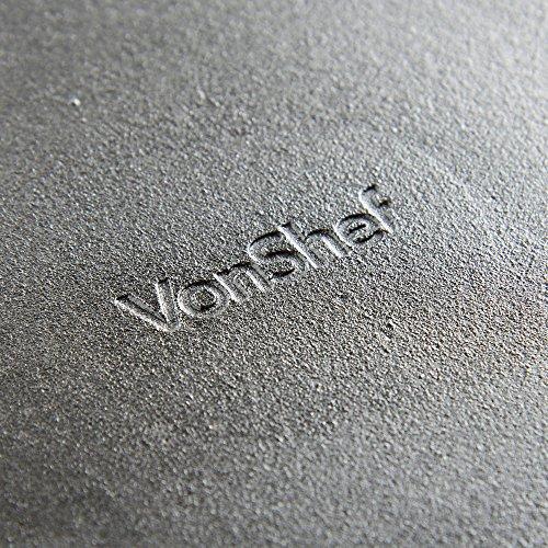 VonShef 10 Inch Pre-seasoned Cast Iron Skillet / Frying Pan - Black