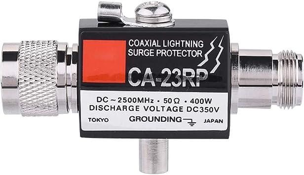 Tosuny Protector Pararrayos Coaxial 50Ω 400W, Conector Tipo N, Protección contra Rayos de Banda Completa DC-2500MHz
