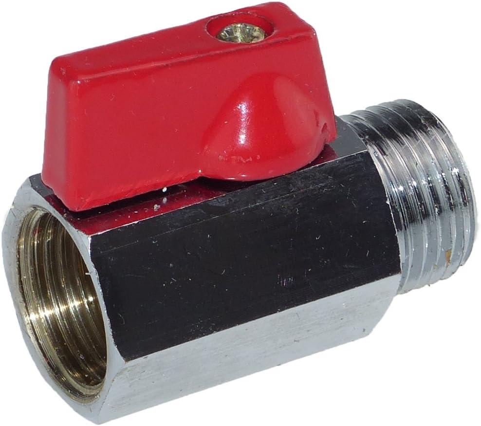 I//A Messing Kugelhahn Mini PN 16 1//2 Zoll