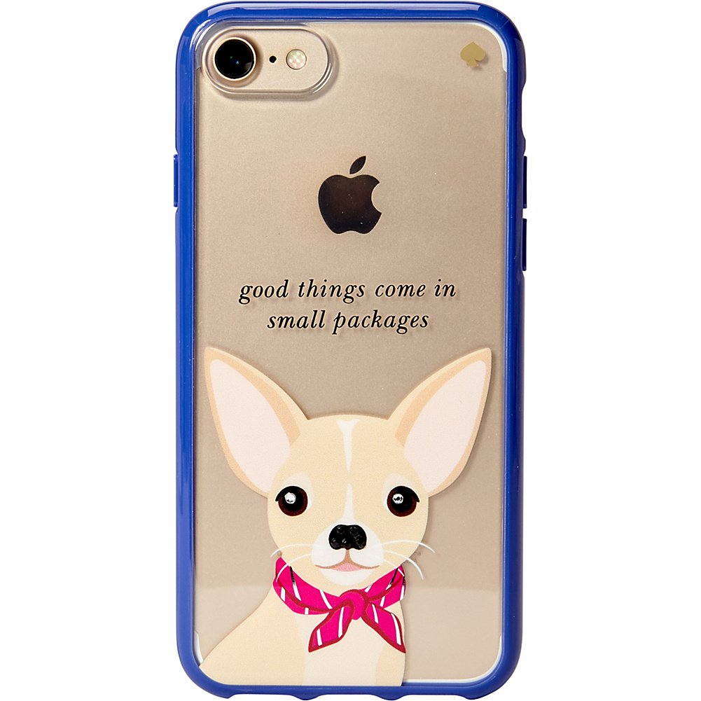 Kate Spade New York Women's Jeweled Chihuahua Phone Case for iPhone 7 Clear Multi Cellphone Case