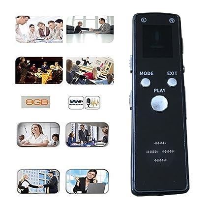 Registratore vocale digitale con camera Mp3 Player VIDEO AUDIO 8GB portatile