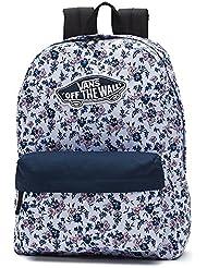 VANS Realm Backpack White Ditsy School Bag V00NZ0O43 Vans Backpack