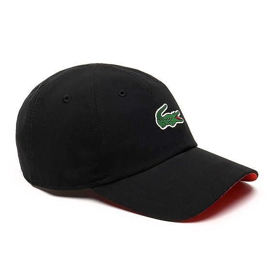 Lacoste Mens Novak Djokovic On-Court Cap - Black Mexico Red - One Size   Amazon.co.uk  Clothing 3e50a68ef161