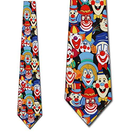 Big Clowns tie Mens Necktie by Three Rooker Neck Tie ()