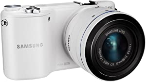 """Samsung NX2000 20.3MP CMOS Smart WiFi Mirrorless Digital Camera with 20-50mm Lens and 3.7"""" Touch Screen LCD (White) (Discontinued by Manufacturer)"""