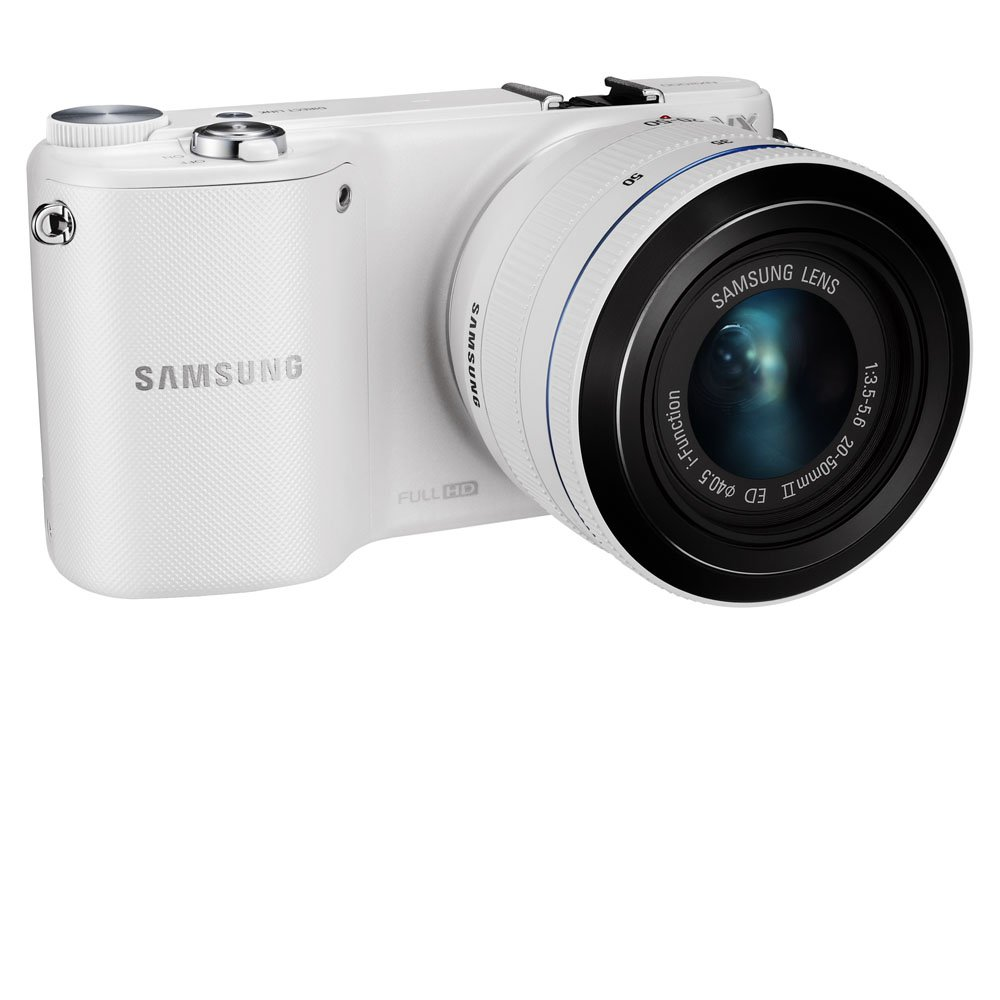 Samsung NX2000 20.3MP CMOS Smart WiFi Mirrorless Digital Camera with 20-50mm Lens and 3.7'' Touch Screen LCD (White) (Discontinued by Manufacturer)