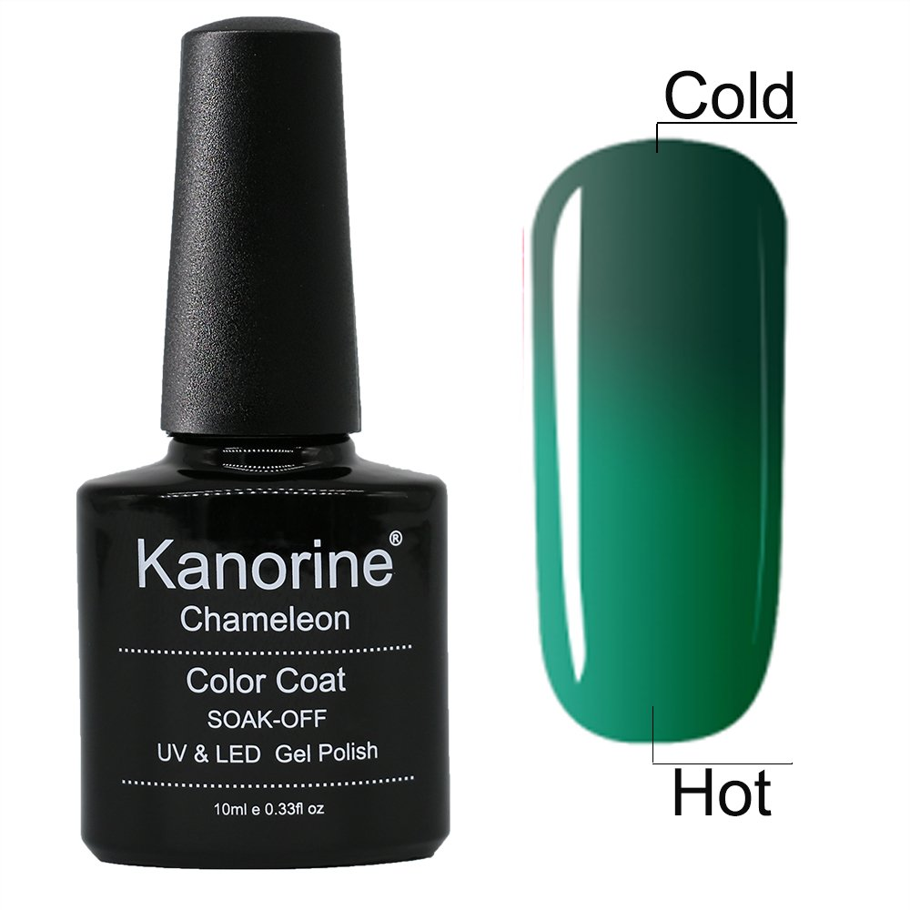 Kanorine GelPolish Temperature Color-Changing Chameleon Soak Off Gel Nail Art Polish UV LED Cured Manicure 10ml gewae5738feoo
