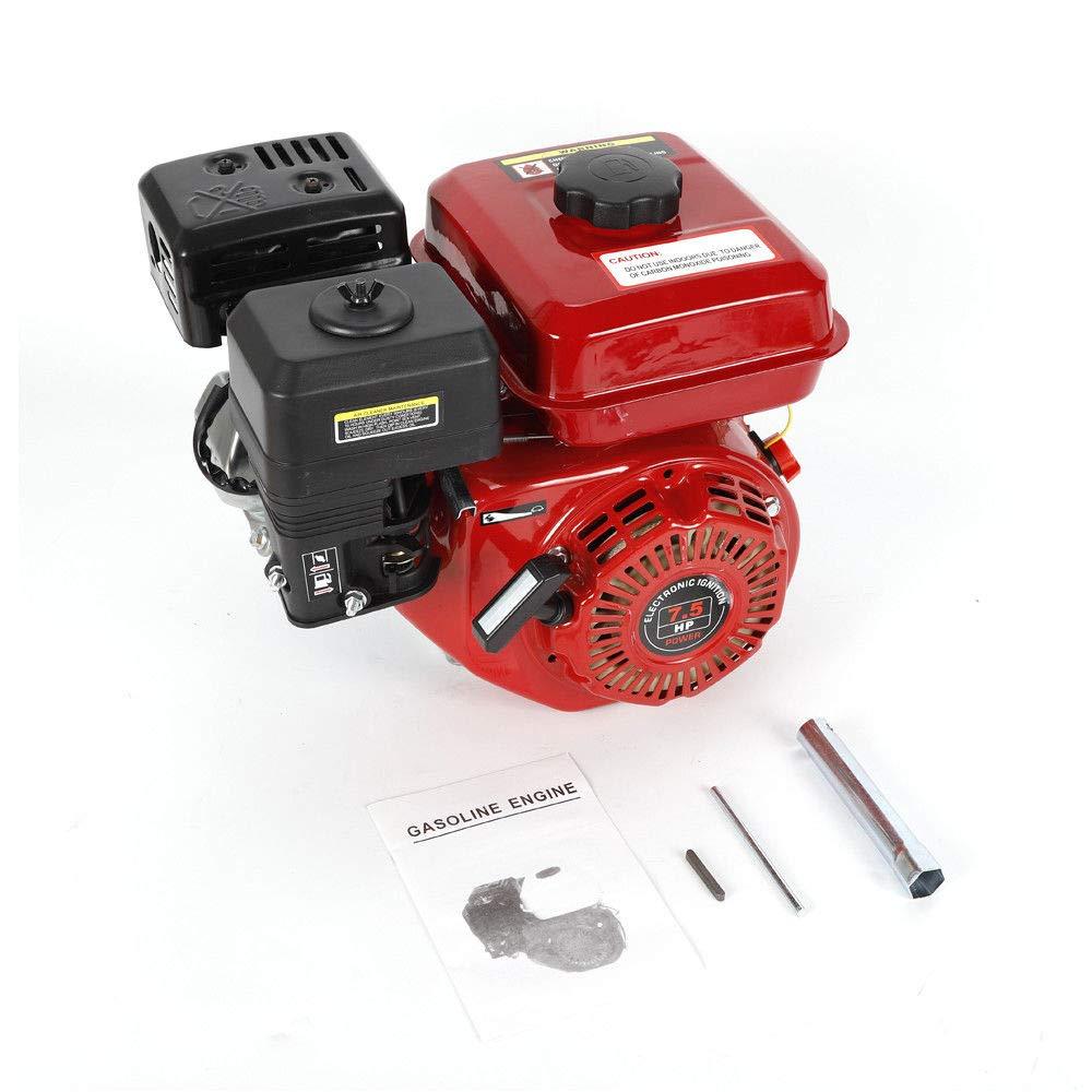 OUKANING Motor de gasolina, 6,5 CV (5,1 kW), motor de 4 tiempos, motor de estacionamiento: Amazon.es: Coche y moto