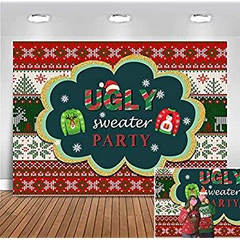 Amazon.com : Funnytree 7x5ft Ugly Christmas Sweater Party