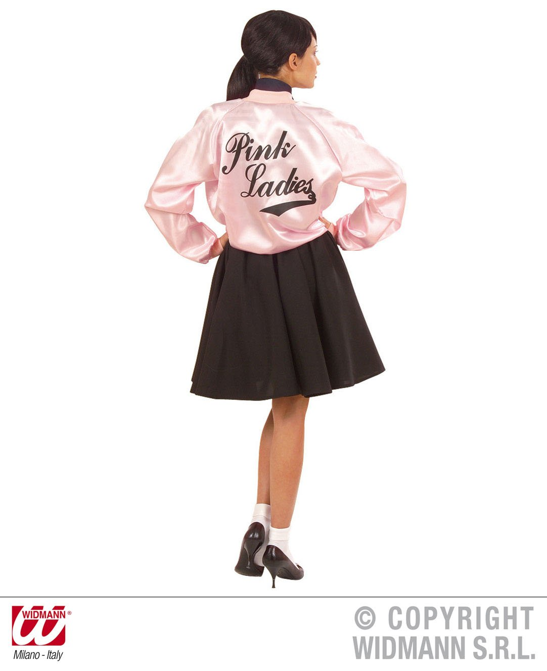 Amazon.com: Ladies Pink 50s Lady Jacket Satin Accessory For Grease 50s Rock N Roll Fancy: Home Improvement