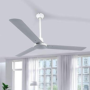 Ventilador de techo Dawinja (Moderno) en Blanco hecho de Metal e.o. para Salón & Comedor de Lindby | Ventilador: Amazon.es: Iluminación