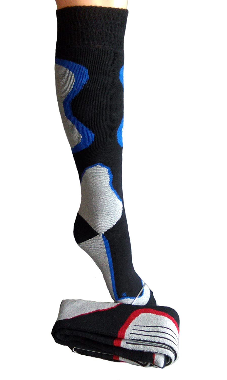 Markenqualität vom Sockenprofi: 2 Paar Herren Ski - Strümpfe Kniestrümpfe Funktionsstrümpfe + 1 Zauberstern für die Torte