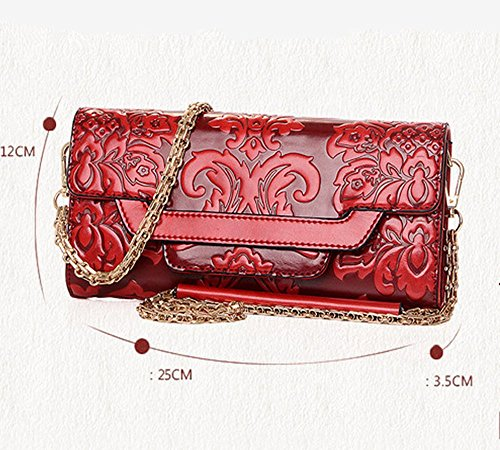 Eysee - Cartera de mano para mujer Negro granate (Wine red) 30cm*17cm*17cm granate (Wine red)