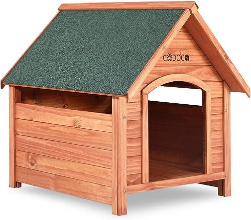 Cadoca-XXL-Hundehütten-Echtholz-Holz