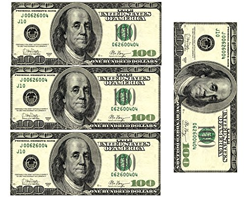 Edible 100 Dollar Bills Frosting Sheet. Real Looking Edible Money,Green]()