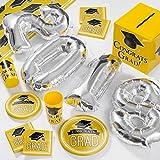 2018 Graduation School Spirit Yellow Deluxe Party Supplies Kit