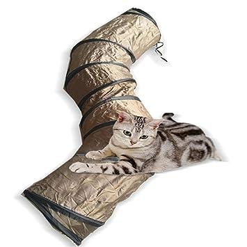 LCPG En Forma de S Curvatura Túnel para Mascotas Feromonas Gato Túnel en Gato Gatito Pasarela Jugar Juguete para Mascotas (Color : Brown): Amazon.es: Hogar
