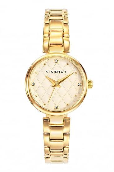 b1cd72e49ec0 Reloj Viceroy Mujer 471064-23 Dorado  Amazon.es  Relojes