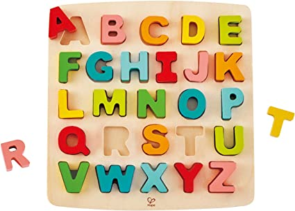 Children Kids Educational Learning Wooden ABC Alphabet or Numbers Peg Puzzle