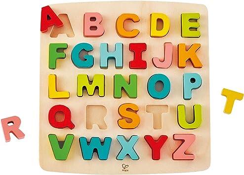 Hape E1551 Puzzle Mit Grossbuchstaben Amazon De Spielzeug