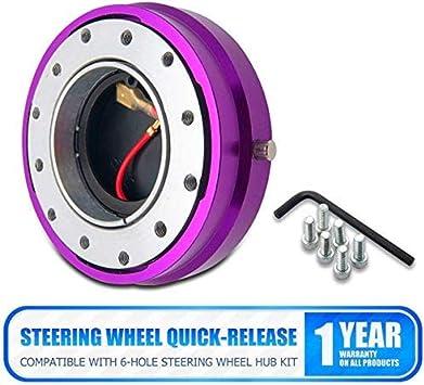 Car Steering Wheel Quick Release Hub Racing Adapter Snap Off Boss Kit Six holes