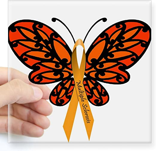 Multiple Sclerosis Awareness Ribbon  Vinyl Wall Decal or Car Sticker