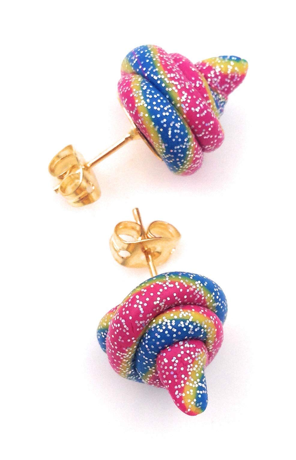 Fairy Plops Earrings Rainbow Glitter Sparkle 6
