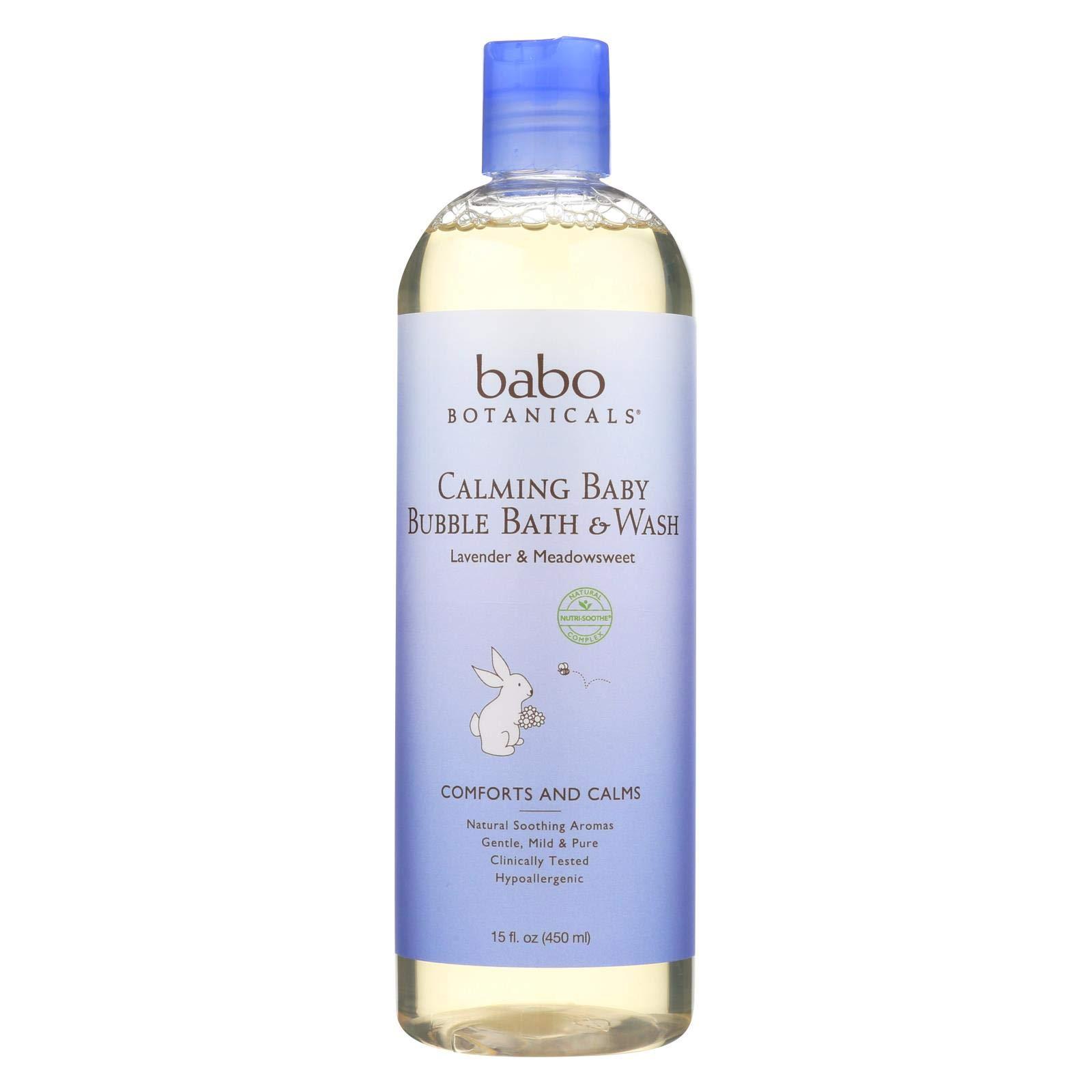 Babo Botanicals Shampoo Bubblebath and Wash - Calming - Lavender - 15 oz (Pack of 6) by Babo Botanicals