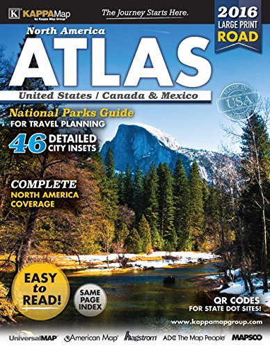 2016 North America Large Print Road Atlas