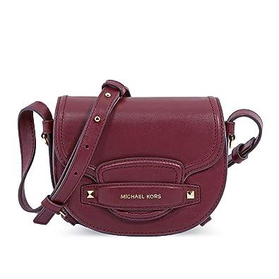 849fe66b2 Michael Kors Cary Small Saddle Leather Crossbody: Handbags: Amazon.com
