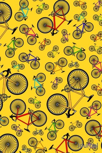 Journal: Yellow road bicycles notebook ()