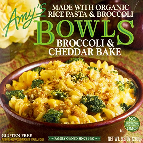 Amy's Frozen Bowls, Broccoli & Cheddar Bake, Non GMO, 9.5-Ounce - Frozen Meals Gourmet