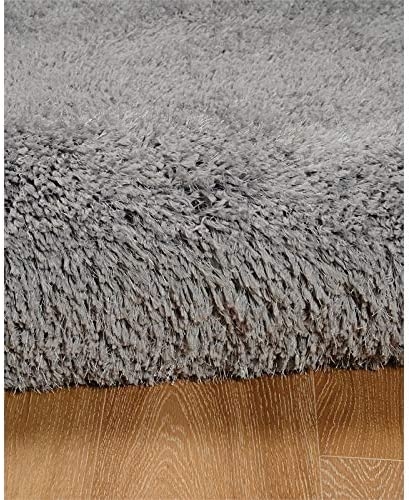 Linon Luxe Plush Shag Grey Area Rug 8×10