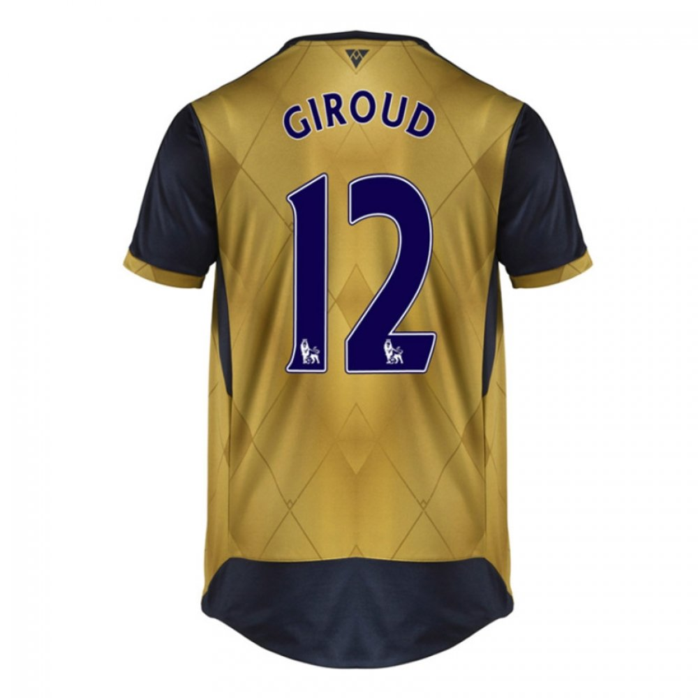 2015-16 Arsenal Away Shirt (Giroud 12) Kids B077VRMNY9Navy Small Boys 24/26\
