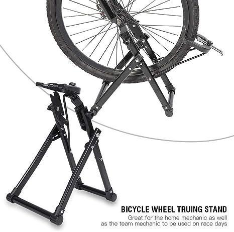 MXECO Mesa de ajuste de anillo de bicicleta plegable, mesa de ...