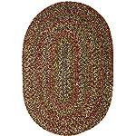 Sonya Indoor/Outdoor Oval Reversible Braided Rug, 5 by 8-Feet, Brown Multicolor