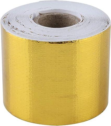 2,5 m x 100 mm Chaleur Protection Bande auto-adhésif Or Tape Ruban Adhésif Réfléchissant