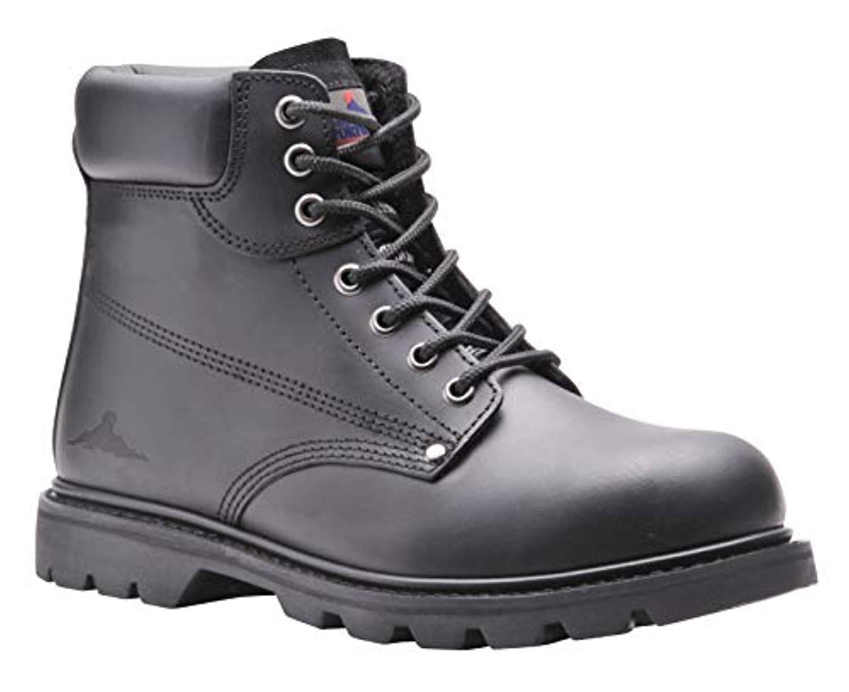 Portwest Steelite Welted Safety Boot Black 10 R & Bandana Bundle