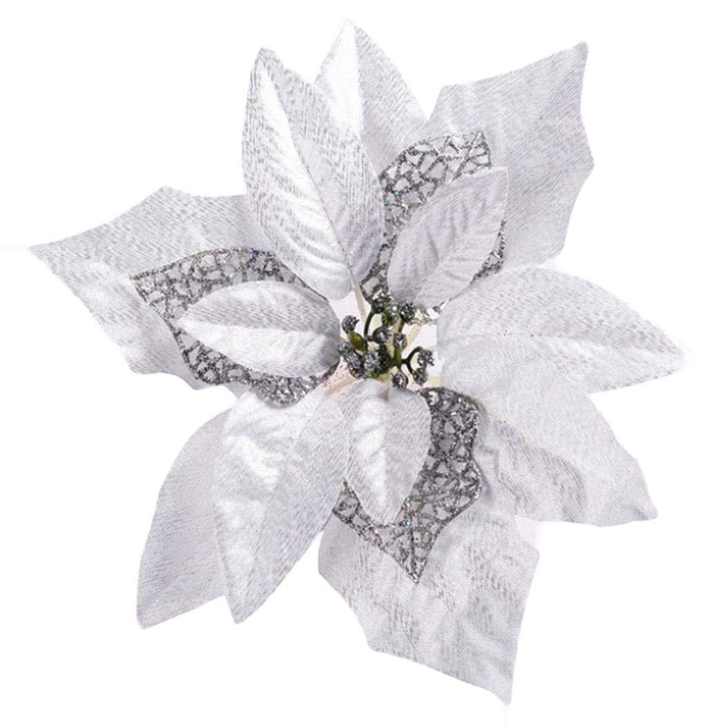 CHIGANT Ornamento Floreale del Fiore di Natale per la Decorazione Domestica di Festival di Nozze Ciondoli e Pendenti Kemanner